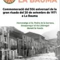 Commemoració de la gran riuada del 1971